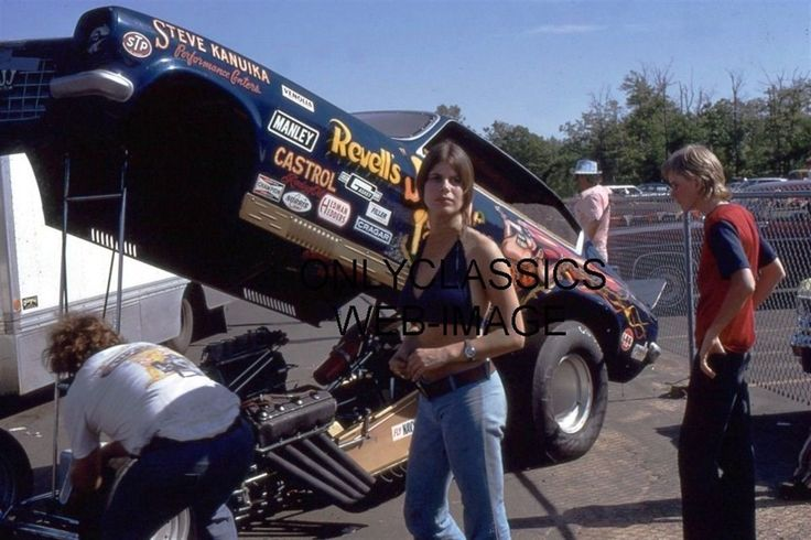 JUNGLE JIM LIBERMAN SEXY PAM HARDY IN HALTER TOP PHOTO NHRA CHEVROLET FUNNY CAR | eBay