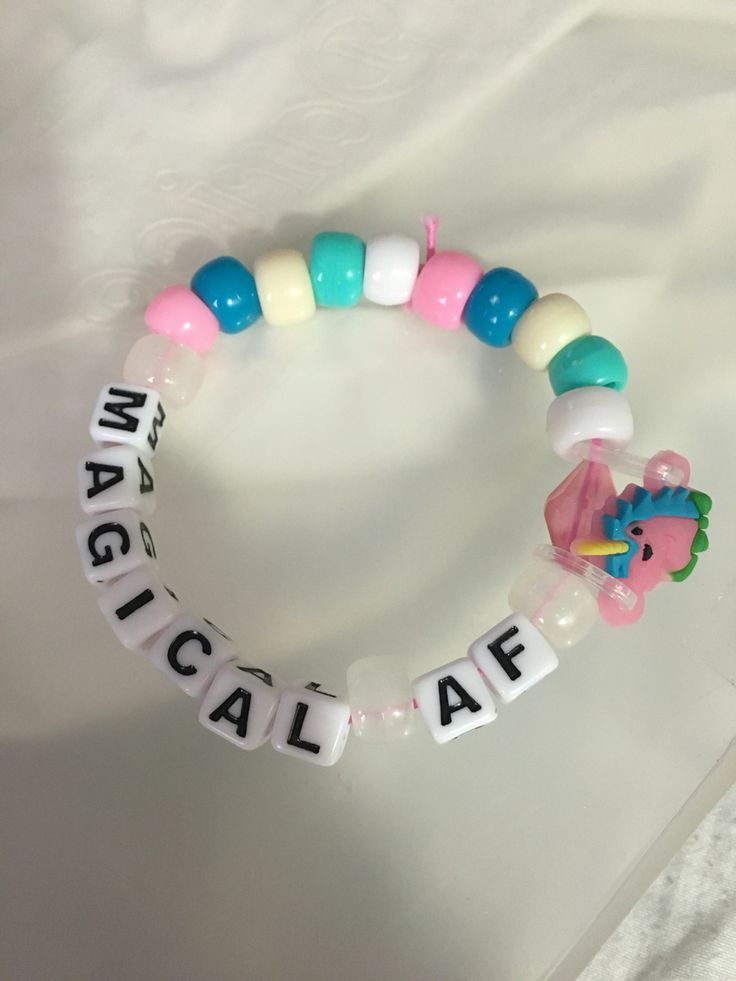 #Unicorn #Kandi bracelet idea  #MagicalAF