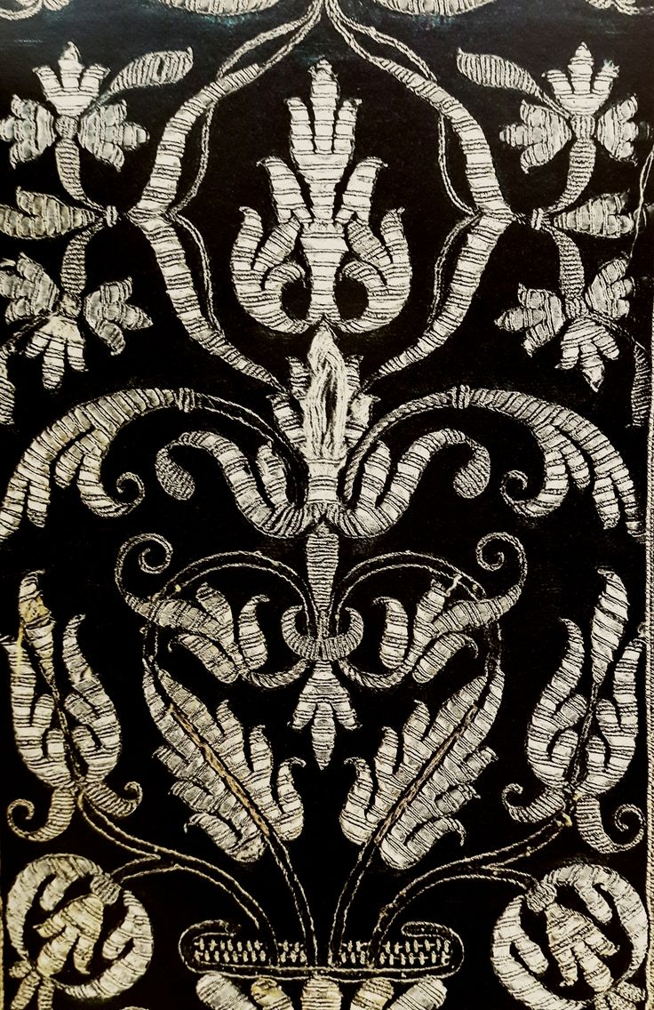 Detail of silk chasuble offered by King Sigismund III Vasa to the Jasna Góra Monastery by Anonymous from Poland (fabric from Spain or Italy), 1620s, Skarbiec Paulinów na Jasnej Górze