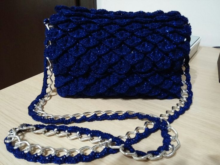 Crochet bag crocodile stitch