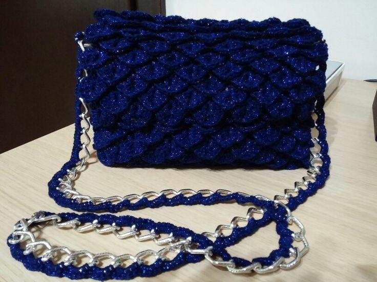 Crochet bag crocodile stitch