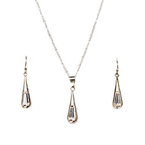 Set di gioielli d'argento I. Plata fina.