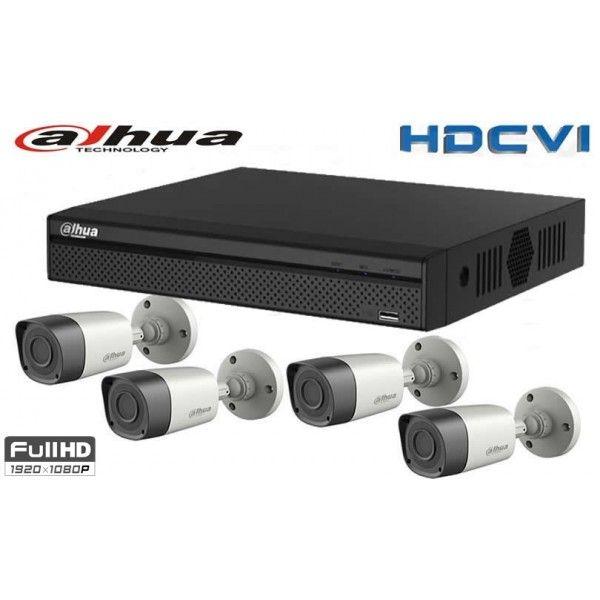 NEW Kit 4 camere supraveghere exterior DAHUA full hd CU XVR DAHUA 1080P 4 canale Kit 4 camere supraveghere exterior DAHUA full hd CU XVR DAHUA 1080P 4 canale