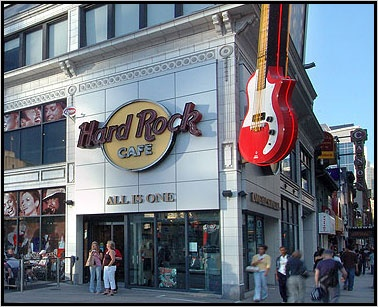 Hard Rock Cafe - Toronto, Canada - Once Eating Here Gave You Not Only A Great Aerosmith Themed Hard Rock, But A View of the Field At The Sky Dome Baseball Stadium...Loved This Place!!