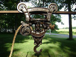 Louden Hay Trolley Cast Iron Antique Vintage Pulley Barn