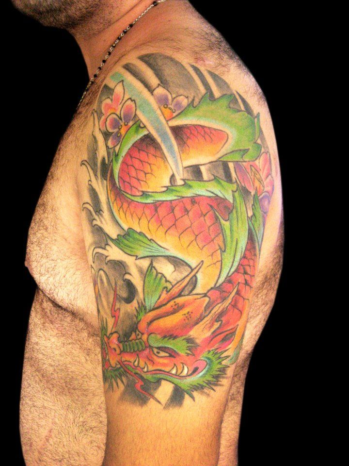 Koi dragon tattoo koi tattoo pinterest koi dragon for Koi tattoo pics