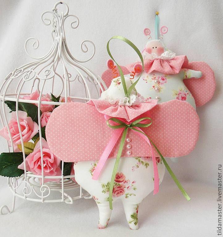 Купить Тильда-жук - бледно-розовый, жук, тильда жук, тильда, букашка, шебби-шик