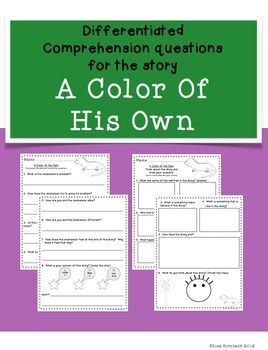 17 best Preschool Book: A Color Of His Own images on Pinterest ...