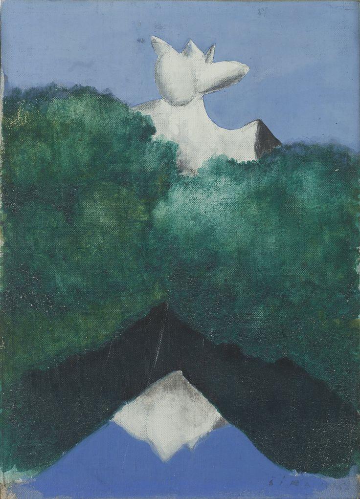 Josef Šíma (1891-1971), Krajina, 1936 tempera, plátno, 28,5 x 24,5cm