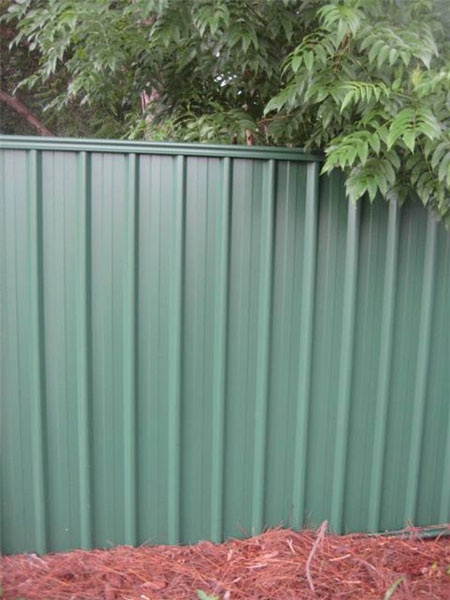 Green colorbond fence by fencescape fencing colorbond - Green fencing ideas ...