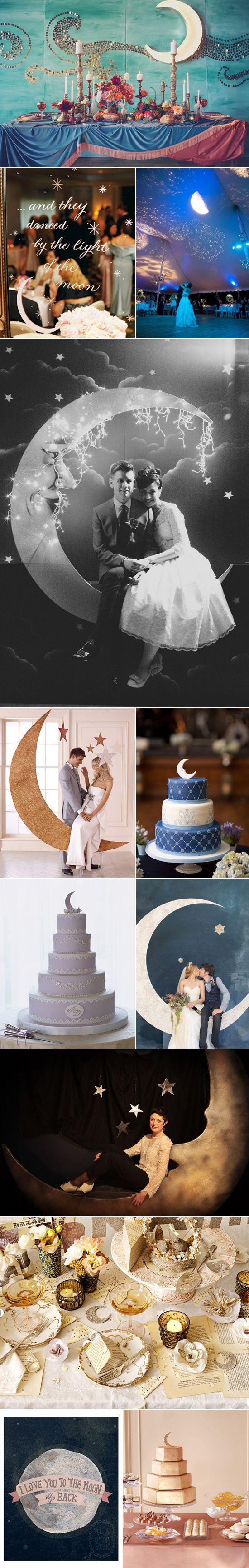 magníficos colores en la mesa de recepción de la mejor foto con un telón de fondo de la luna de marquesina