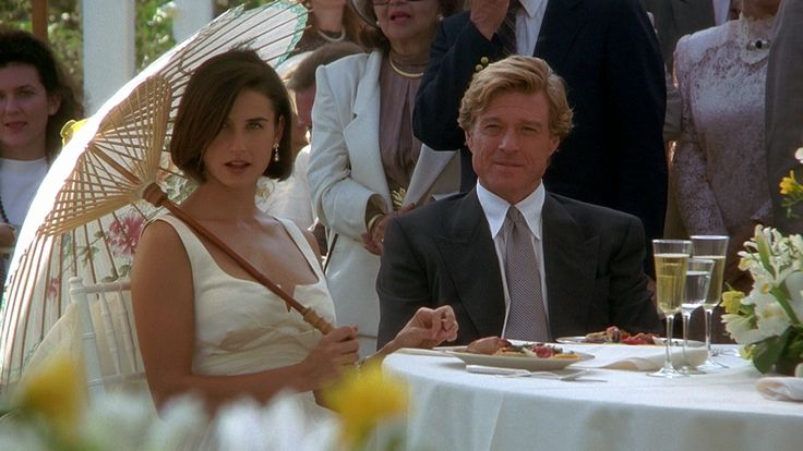Demi Moore y Robert Redford en Propuesta Indecorosa.