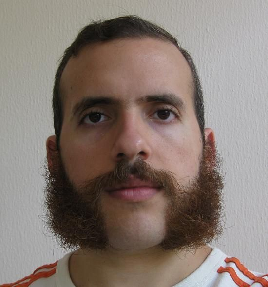 nice full sideburns and mustache