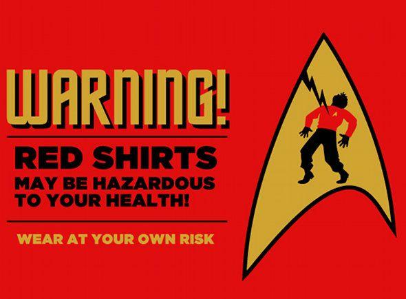 Star Tek - Health & safety sign on the Starship Enterprise