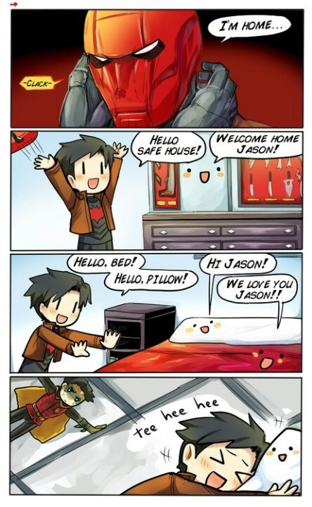 Jason Todd missed home. Damian....well...finds something odd