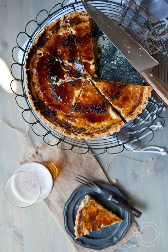 Peach Ale Crème Brulee Tart and Let's Talk about Peach Beer
