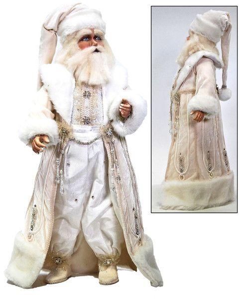 "Katherine's Collection Azure Ice Christmas Collection 24"" Snow King Santa Doll Free Ship"