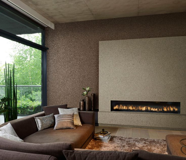 Mica Wallpaper for walls surrounding tub  -Omexco Gravel Minerals