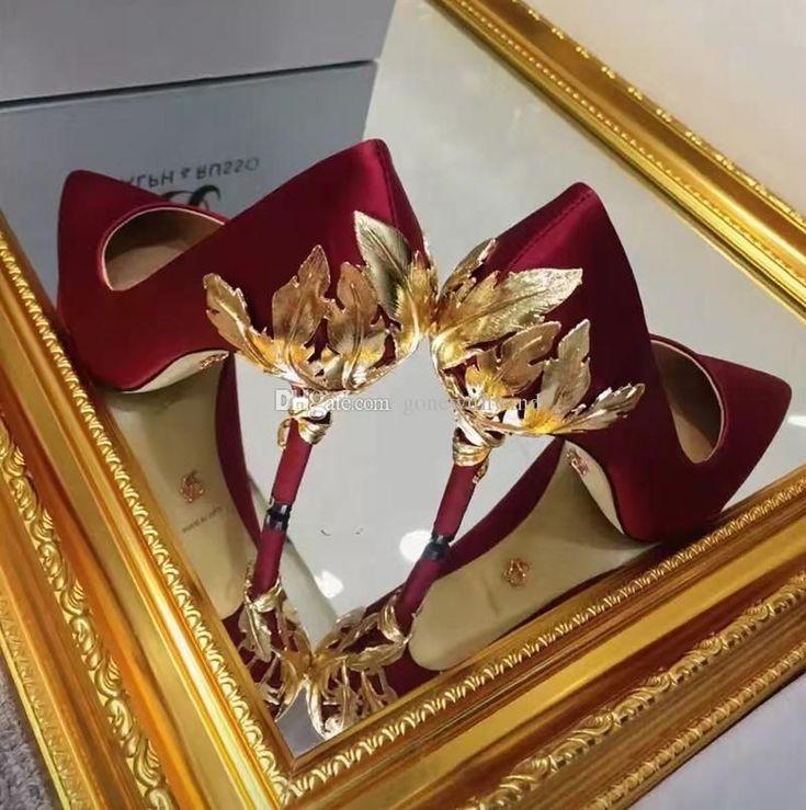 2016 Burgundy/Blue/White/Black/Champagne Dresses For Wedding Silk Bridal Shoes Evening Shoes Prom Shoes Bridal Court Shoes Bridal Gold Shoes From Gonewithwind, $291.46| Dhgate.Com #promheelswhite #promshoesgold