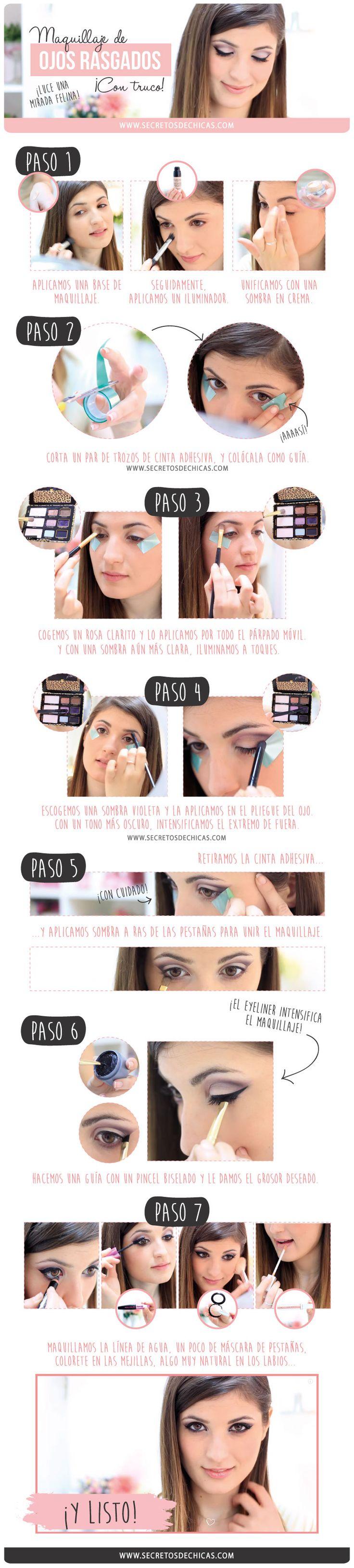 Maquillaje paso a paso con truco: ojos rasgados