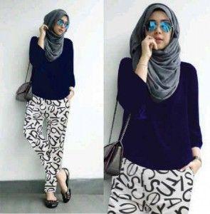 Model blouse muslim remaja st moza S469
