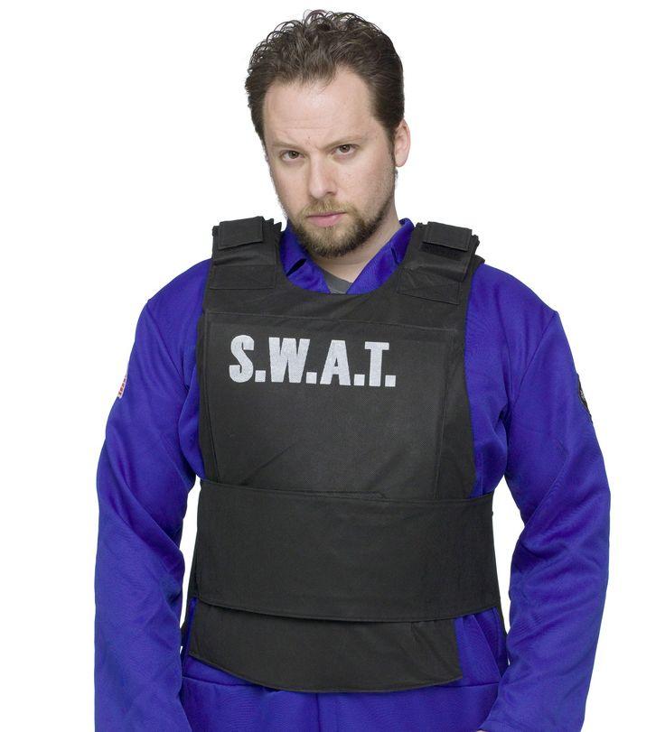 swat vest adult costume one size - Halloween Bullet Proof Vest
