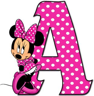 ShoppingAlfabetoDecorativo.: Alfabeto - Minnie 12 - PNG - Completo - Letras - M...
