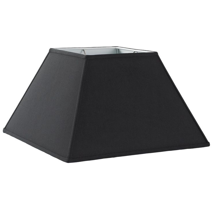 "16"" Pyramid Lamp Shade in black, white or cream"