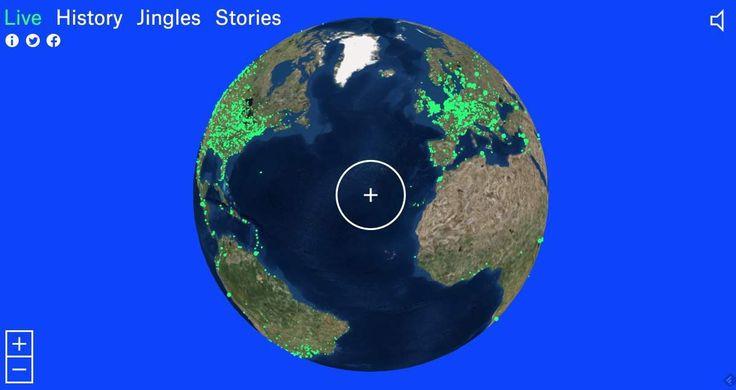 Radio Garden. Ecoutez toutes les radios du monde à partir d'un globe terrestre. #decouverte #coupdecoeur