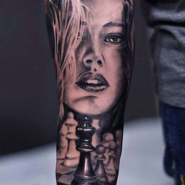 24 best images about realistic tattoos on pinterest woman face sleeve and clock. Black Bedroom Furniture Sets. Home Design Ideas