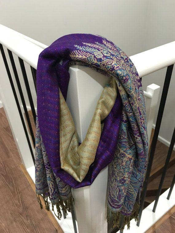 Pashmina Big Paisley Purple by Sabelglam on Etsy