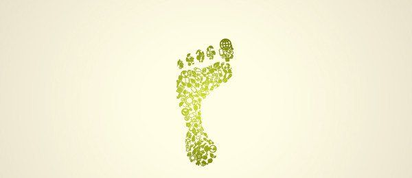 Free Download: Green Footprint | Vectorgraphit