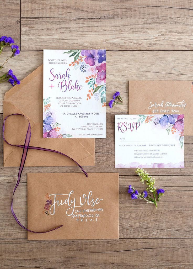 Purple Copper Wedding Inspiration - paper goods