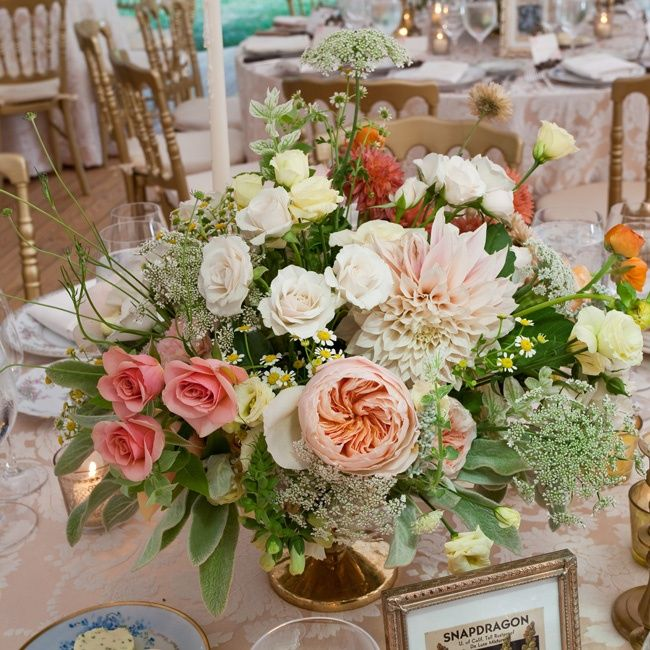 Rose and Dahlia Centerpiece