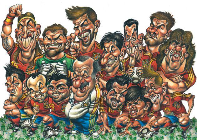 Caricatura de La Roja (Campeona del Mundial 2010)