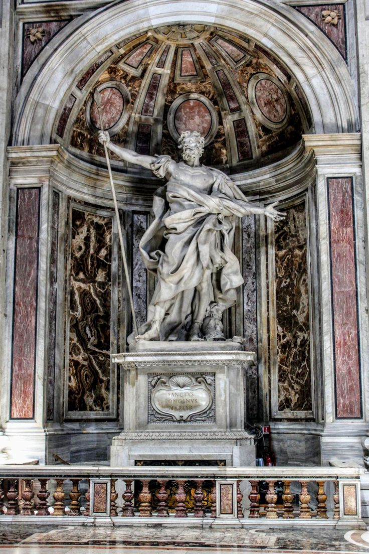 Statue of St Longinus by Gian Lorenzo Bernini, St Peter's ...