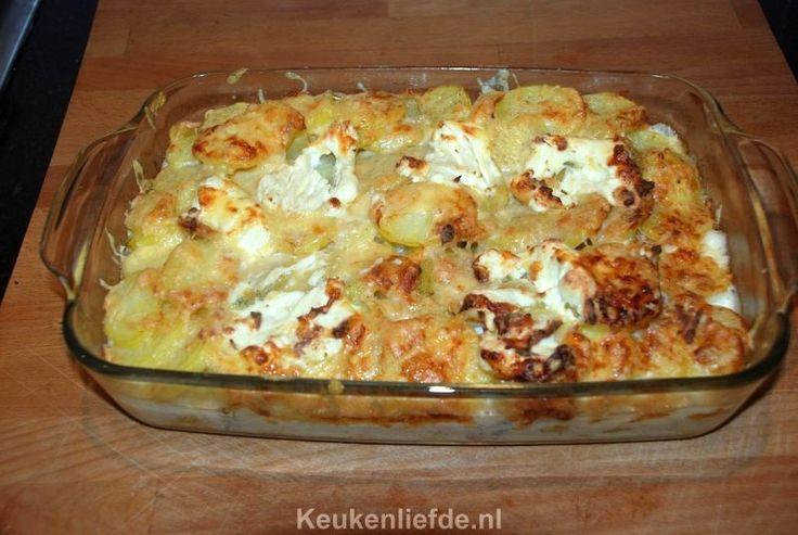 Gegratineerde ovenschotel met zalmfilet - Keuken♥Liefde