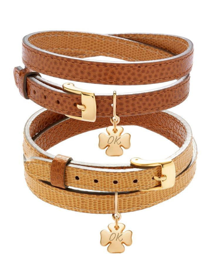 Lilou makes you like leather: one reversible bracelet, 2 colours to wear! Bonus: customize the pendant with a personal engraving! #lilou #bracelet #leather #gold #beige #clover #customize #engraving