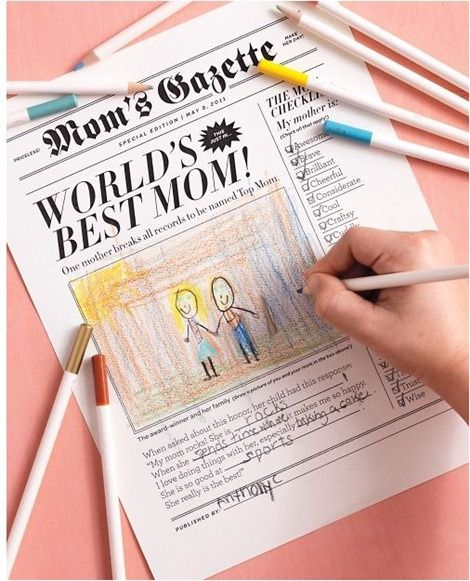 Newspaper mother's day