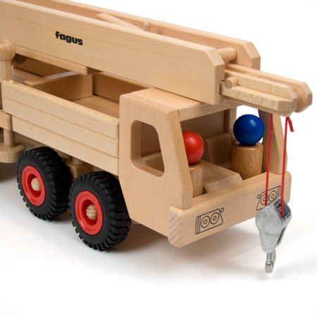 Mobile Crane (Fagus) | Fagus Wooden Trucks | WOODEN TOYS | TheWoodenWagon