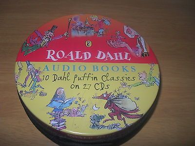 Roald dahl #audio books #puffin classics 27 cds kids #collection metal zip tin ,  View more on the LINK: 	http://www.zeppy.io/product/gb/2/322080170013/