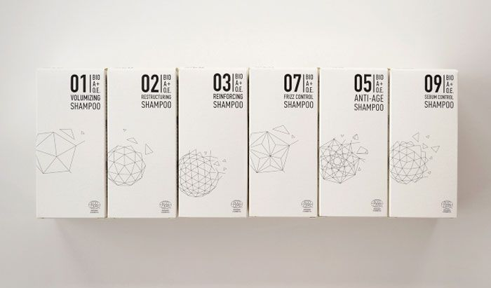 BIO+A - The Dieline. Love the scientific-looking geometric wireframes. Raised ink is also really cool.