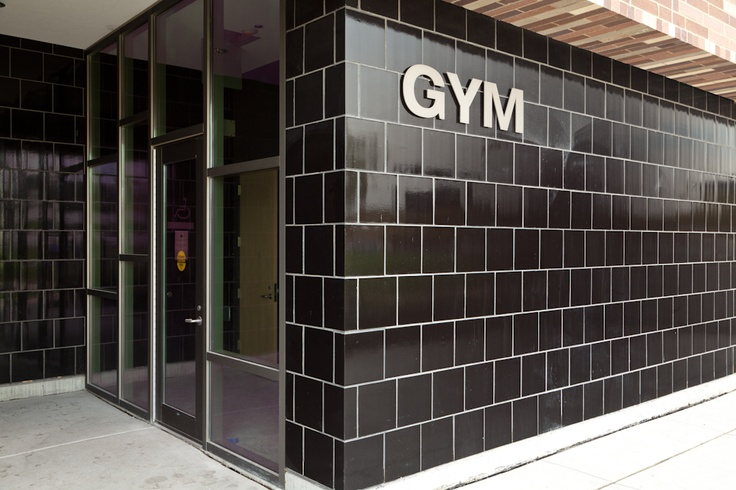 Structural Glazed Tile - Installed on the exterior of an athletic building.