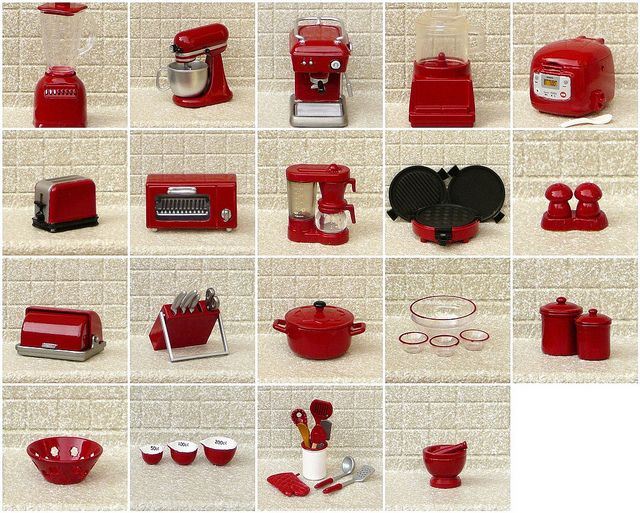 red appliances for kitchen | My Re-ment Red Re-painted Kitchen Appliances | Flickr - Photo Sharing!