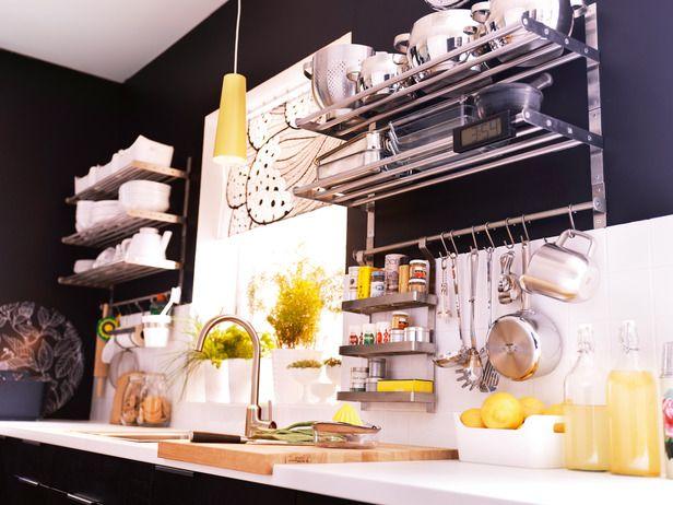GRUNDTAL kitchen wall organizers by IKEA