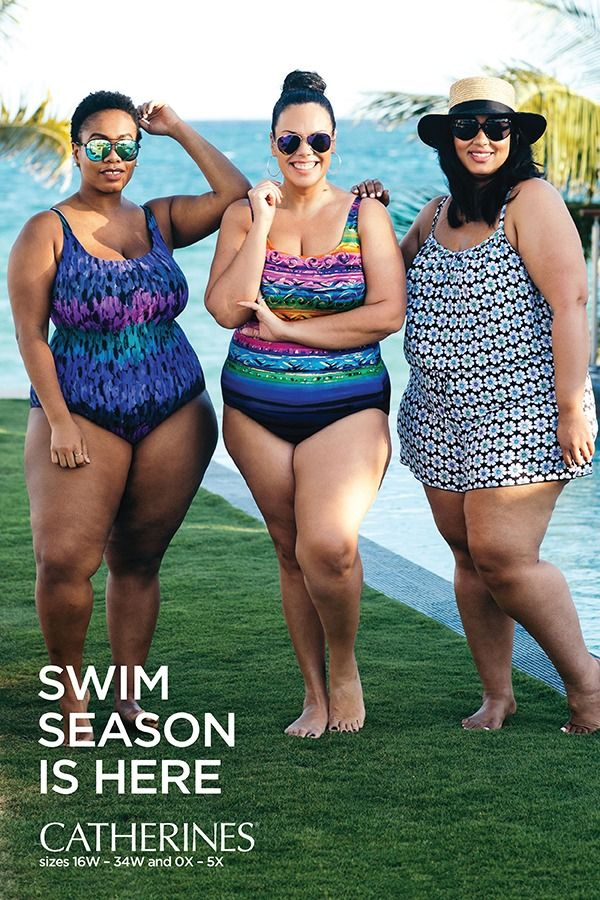 Flattering plus size swimsuits and cover-ups for the pool or beach this summer! Shop Catherines Plus Sizes at catherines.com for swimwear and cover-ups designed exclusively for sizes 0X-5X and 16W-34W.