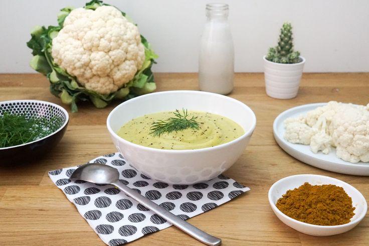 Crème de Chou-fleur au Lait de Coco et Curry