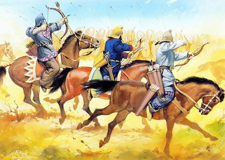 Parthians in action at the battle of Carrhae. The tactics employed by the Parthian general Surena were inspiring. The archers would harass the infantry and create weak points for the cataphratcs to exploit. Simple and effective strategy.