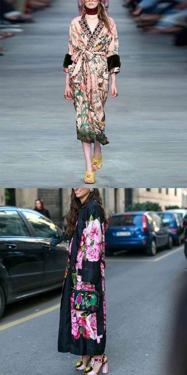 Floral Print Coats