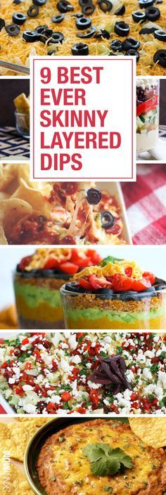 Healthy Layered Dips | Dips, Skinny and Layer Dip